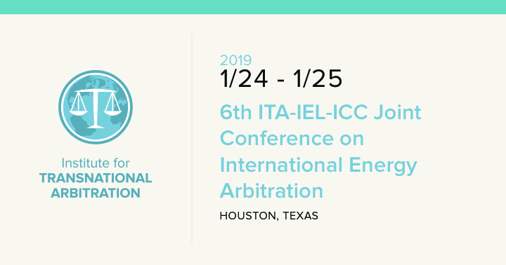 6th ITA-IEL-ICC Joint Conference on International Energy