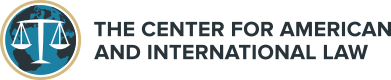 The Center for American and International Law Logo